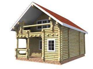 Проекты домов 6х6 из оцилиндрованного бревна в Нижнем Новгороде