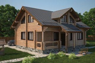 Проекты домов 6х7 из оцилиндрованного бревна в Нижнем Новгороде