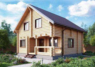 Проекты домов 7х9 из оцилиндрованного бревна в Нижнем Новгороде