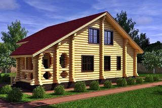 Проекты домов 8х8 из оцилиндрованного бревна в Нижнем Новгороде