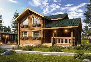 Проекты домов 8х9 из оцилиндрованного бревна в Нижнем Новгороде
