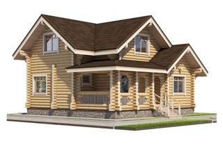 Проекты домов 8х10 из оцилиндрованного бревна в Нижнем Новгороде