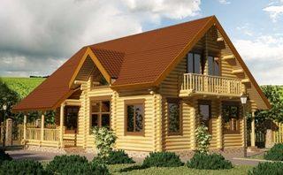 Проекты домов 9х9 из оцилиндрованного бревна в Нижнем Новгороде