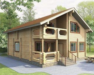 Проекты домов 9х10 из оцилиндрованного бревна в Нижнем Новгороде