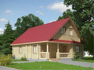 Проекты домов 9х11 из оцилиндрованного бревна в Нижнем Новгороде