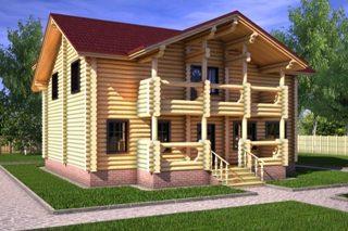 Проекты домов 10х10 из оцилиндрованного бревна в Нижнем Новгороде