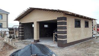 Строительство гаража из кирпича в Нижнем Новгороде