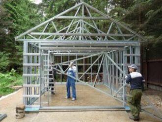 Строительство каркасного гаража в Нижнем Новгороде