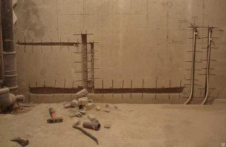 Фото процесса Штробление стен в Нижнем Новгороде