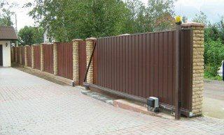 Откатные ворота под ключ в Нижнем Новгороде