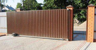 Механические откатные ворота без автоматики