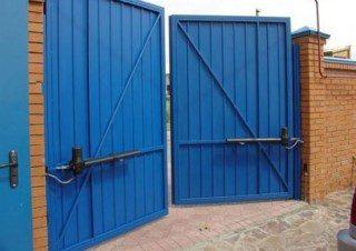 Фото процесса производства Промышленные распашные ворота в Нижнем Новгороде