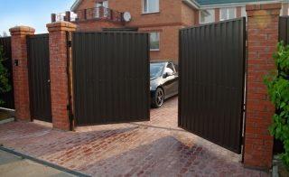 Распашные ворота для дачи в Нижнем Новгороде