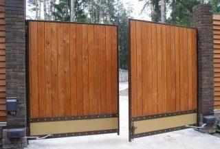 Фото процесса производства Деревянные распашные ворота в Нижнем Новгороде