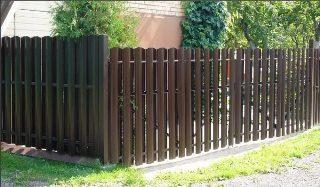 Забор из металлического штакетника под ключ